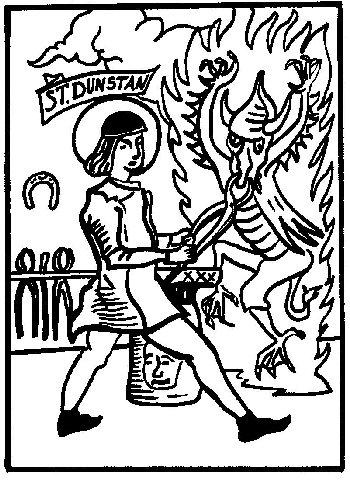 San Dunstán origen de la herradura de la suerte
